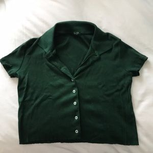Cropped, button Brandy shirt 💫